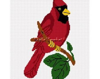 INSTANT DOWNLOAD Chella Crochet Cardinal Red Bird Afghan Crochet Pattern Graph