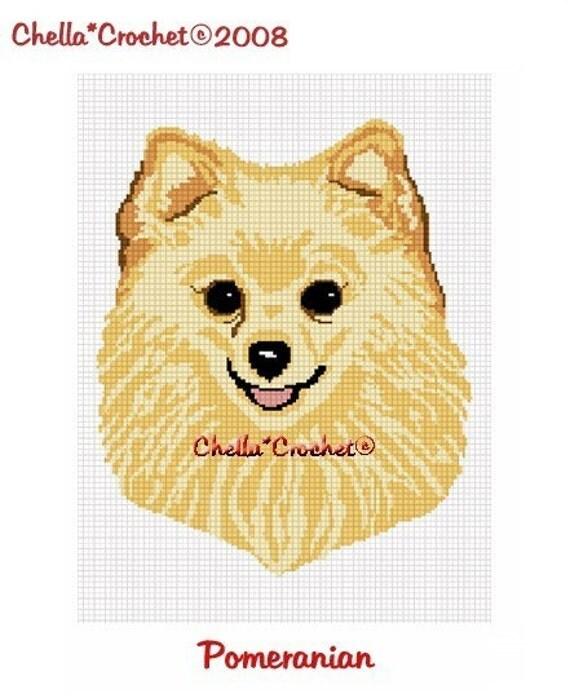 INSTANT DOWNLOAD Chella Crochet Pattern Pomeranian Pom Dog Pattern Graph Chart. .PDF