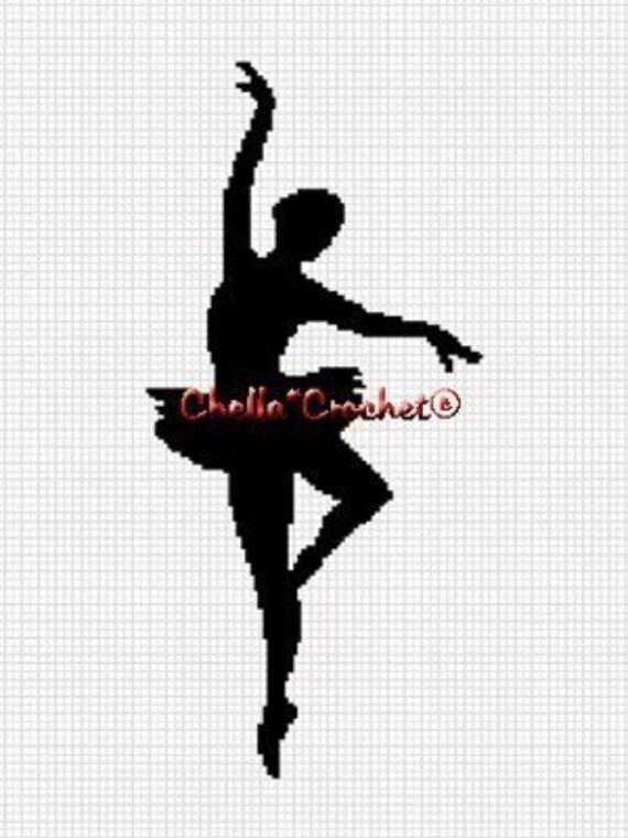 SALE see SHOP for details Chella Crochet Ballerina Silhouette Afghan Crochet Pattern Graph Chart .PDF