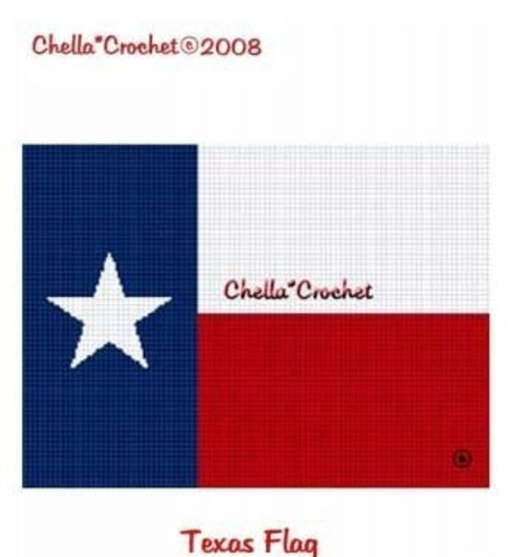 INSTANT DOWNLOAD Chella Crochet Texas Lone Star State Flag Afghan Crochet Pattern Graph Chart .PDF