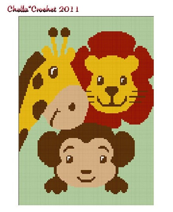 ... Crochet Baby ZOO Jungle Safari Animals Afghan Crochet Pattern Graph