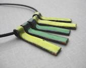 Slick Sticks Necklace- Green/Lime