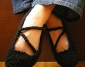 Midnight Black Tootsie Warmers, Custom Size, (Adult Slippers), FREE SHIPPING