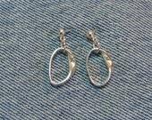 Eternal Mobius Strip Post Earrings