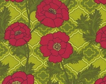 CLOSEOUT 1 yd Patty Young Mezzanine Secret Garden Lime  fabric OOP