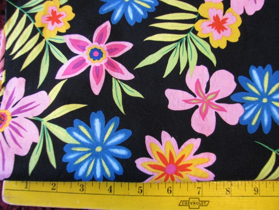 CLOSEOUT 1 Yd Sew You Sew Fun Floral RJR Fabric Cotton Quilting OOP