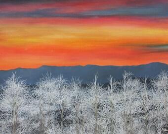 Frosty Sunset 13x10