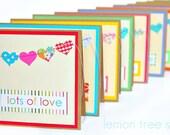 LAST SET -- Hearts a Plenty -- A Sweet Set of 6 Greeting Cards