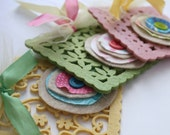 CORA PAIGE -- ALL PROCEEDS GOING TO CORA PLAYGROUND -- Spring Blooms -- Luxe Felt and Fabric Jumbo Gift Tags