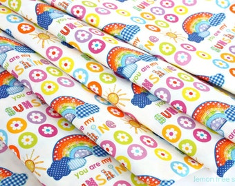 You are my Sunshine -- Original Rainbow Design Fabric