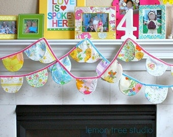 Hang Some VINTAGE Happiness -- Colorful and Whimsical Bunting