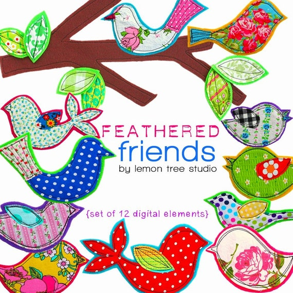 Digital Clip Art -- Feathered Friends Collection