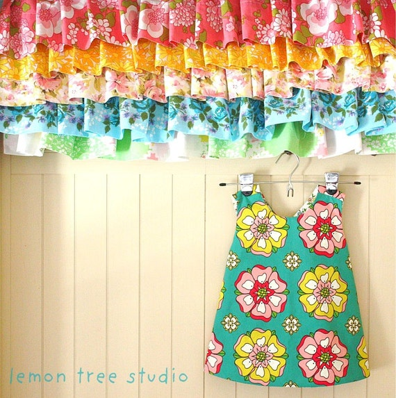 LAST ONE -- Summer Blooms  -- a Reversible Pinafore (Simply Sweet Collection)