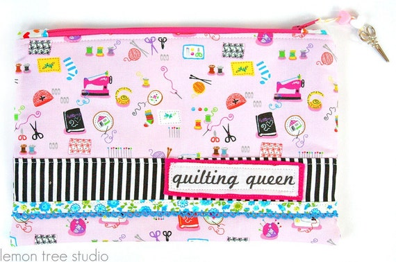 RESERVED FOR CASEY -- Quilting Queen -- Zipper Pouch