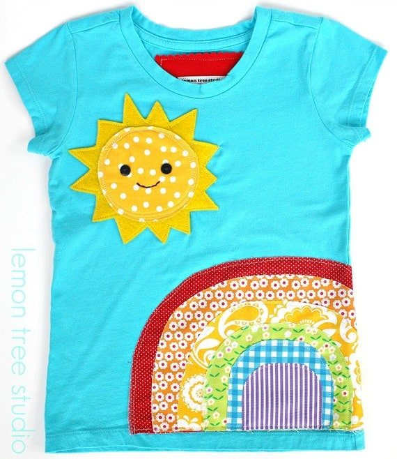 A Sunny Day (Embellished Shirt or Tunic) -- Chasing Rainbows Collection