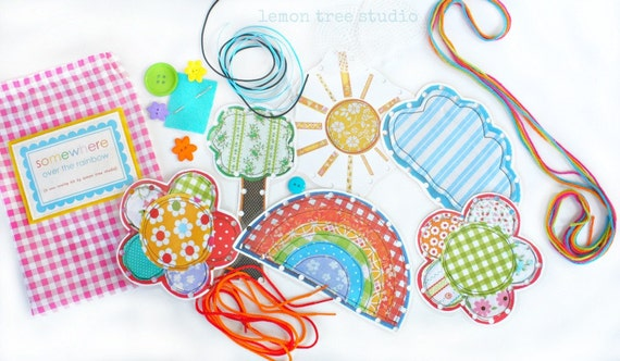 Somewhere Over the Rainbow -- a Beginning Sewing Kit for Little Hands