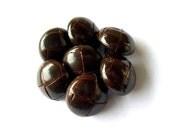 SALE-60 Leather vintage buttons dark brown 15mm
