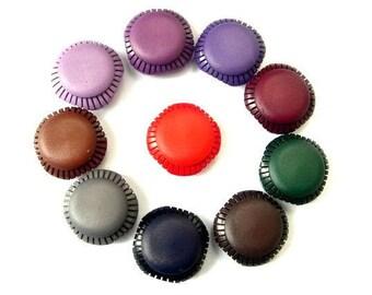 10 Buttons, vintage, plastic, 19 colors, sqware, 21mm