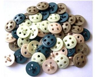 56 Vintage buttons plastic 54colors unique design 20mm