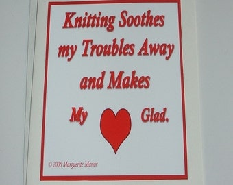 Card, Knitting Soothes