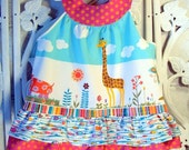 Ruffled Jungle Pinafore - made to order for infant and toddler sizes