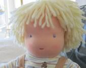 Caleb, a 16 inch Waldorf Style Boy Doll