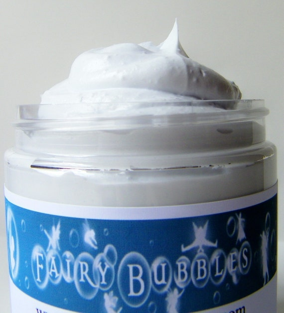 Water Lily and Jasmine Whipped Soap, Body Wash, Cream Soap, Fluffy Whip, 8 oz jar