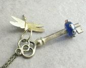 Safe Flight --- Skeleton Key Necklace