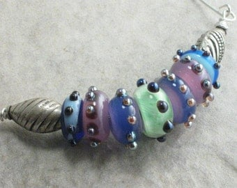 Dancing In The Sun --- Lampwork And Sterling Silver Necklace