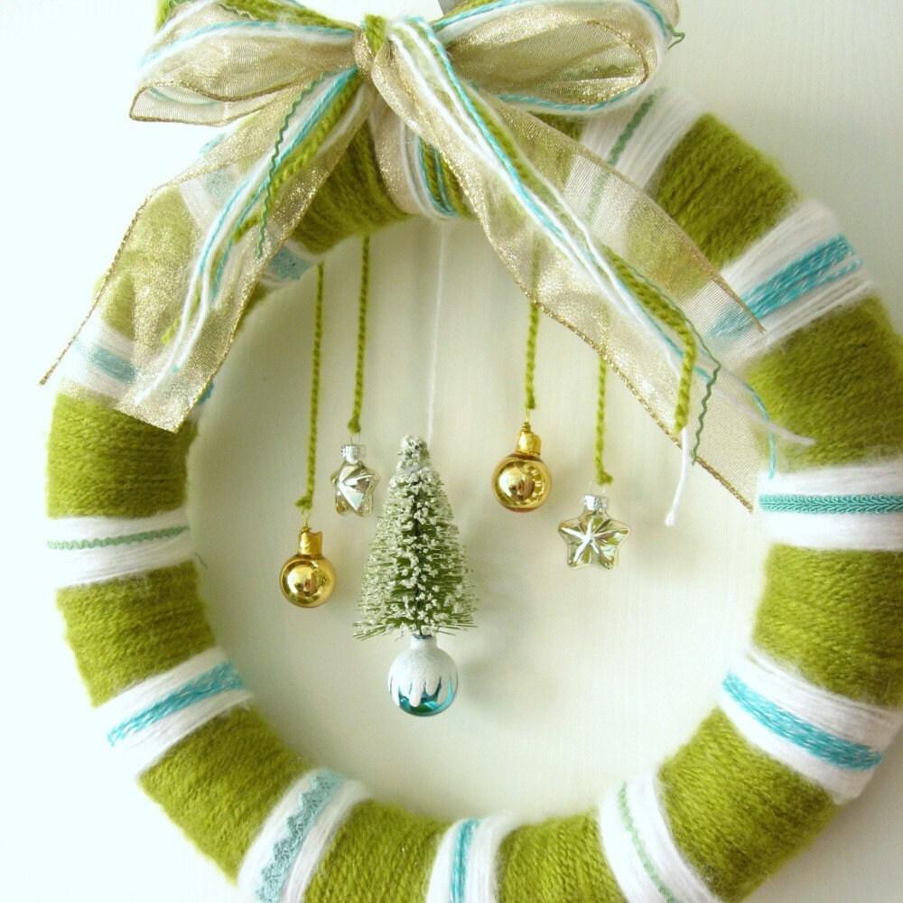 Yarn Tree Wreath by junktrunk on Etsy