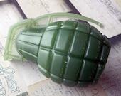 Army Green Grenade Soap
