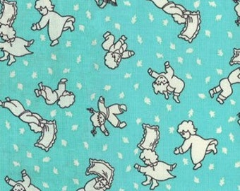 SALE Michael Miller Turquoise Pillow Fight Cotton Fabric