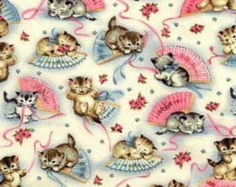 Smitten Kittens Cotton Fabric from Michael Miller