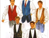 Mens Vests and ties Sewing Pattern Variations 1990s