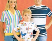 Vintage Master Sewing Pattern Family T shirts All Sizes Mens Womens Children