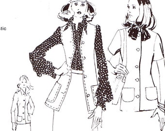 Vintage 1970s Ladies Jacket and Vest Master Sewing pattern all sizes