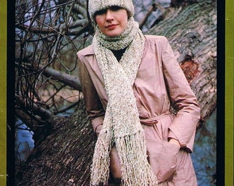 Vintage Knitting Patterns for the Family 1970s chunky weight 12ply yarn