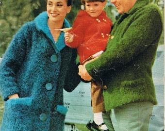 1960s Knitting Patterns Vintage Women Men Children