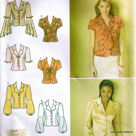 Unique Blouse Patterns Womens Sewing Patterns Easy Sewing