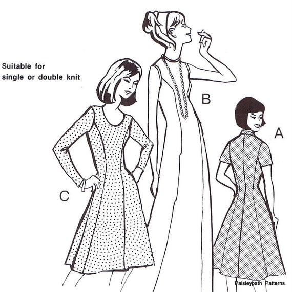Vintage 1970s Ladies Princess Line Dress Master Sewing pattern all sizes