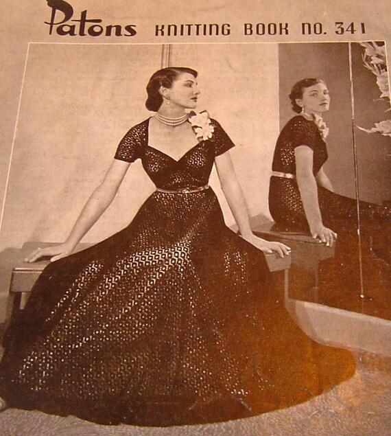 Vintage 1950s Hand Knit Patterns Ladies Stylish Designs