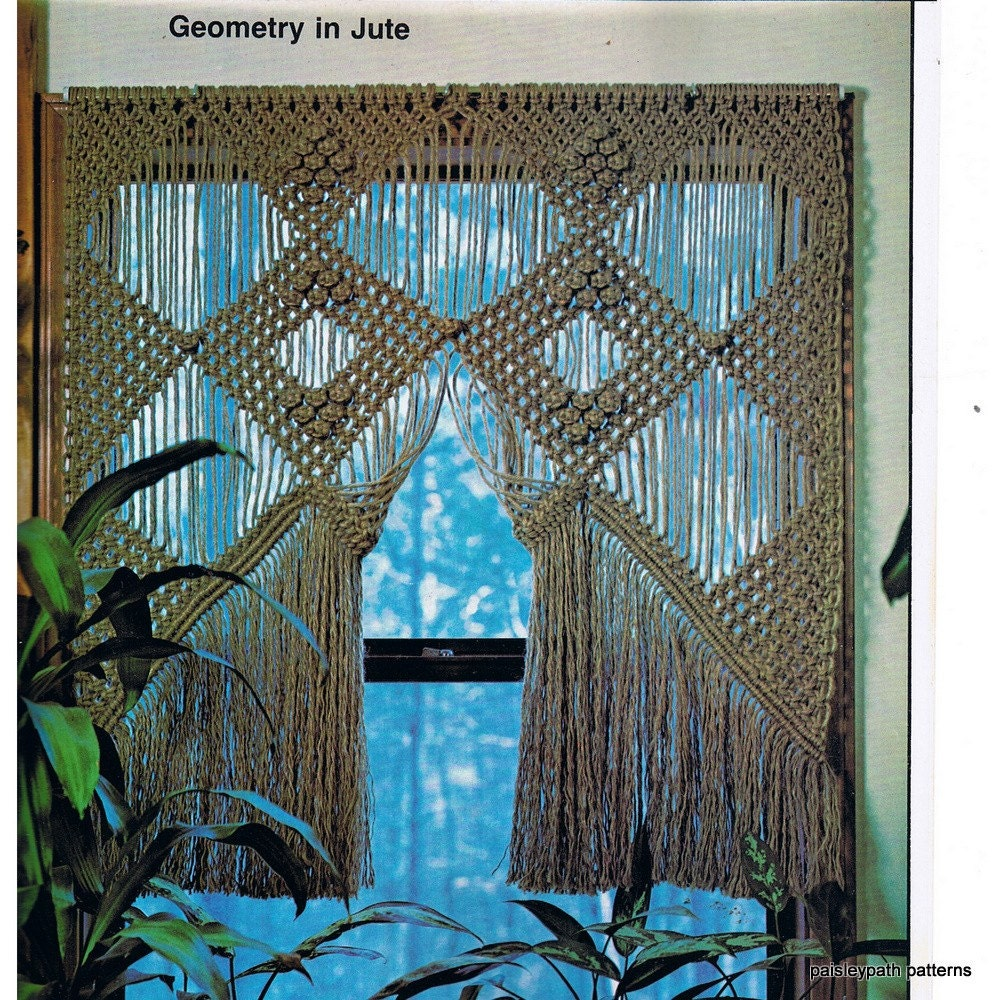 Vintage Macrame Patterns Huge Book of Projects by paisleypath