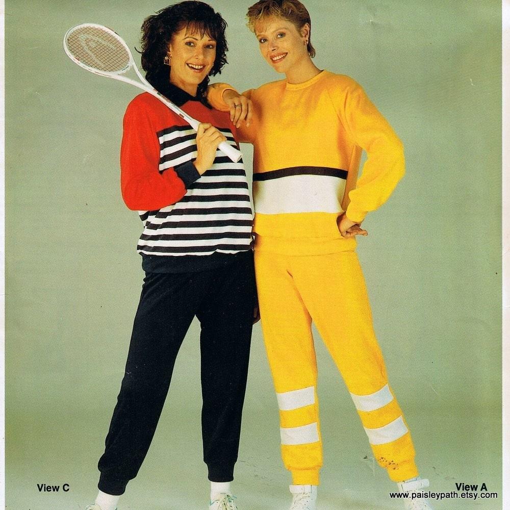 Vintage 1980s Master Pattern Ladies Sweat Suit Track Suit Or