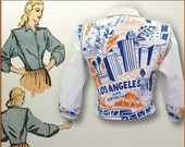Los Angeles - 1940's style cropped jacket - Women's size 4