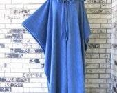 Plus Size Dusty Blue Irish Fleece Cape