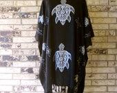 Black and Silver Premium Rayon Tunic Plus Size