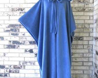 PICK YOUR COLOR - Plus Size Dusty Blue Irish Fleece Cape