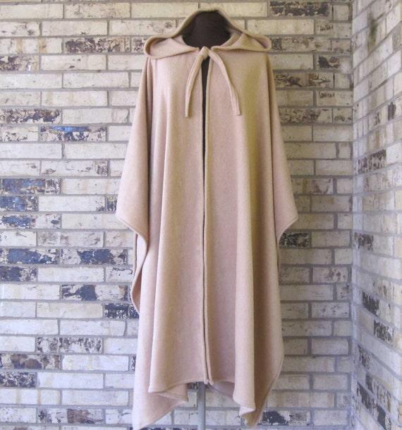 PICK YOUR COLOR  Irish Cape Beige Fleece Plus Size
