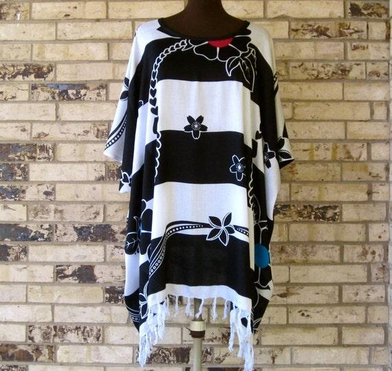 Black and White Tunic Plus Size