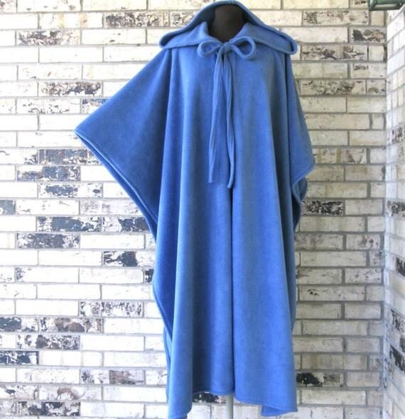 PICK YOUR COLOR - Plus Size Dusty Blue Irish Fleece Cape